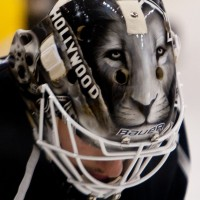 Hollywood sign expected to be removed from Bernier's mask (photo: M. Zampelli)