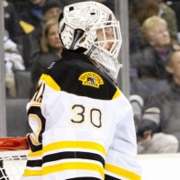 Bruins goalie Tim Thomas after his first victory vs the Kings