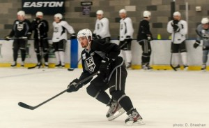 Drew Doughty LA Kings practice MayorsManor