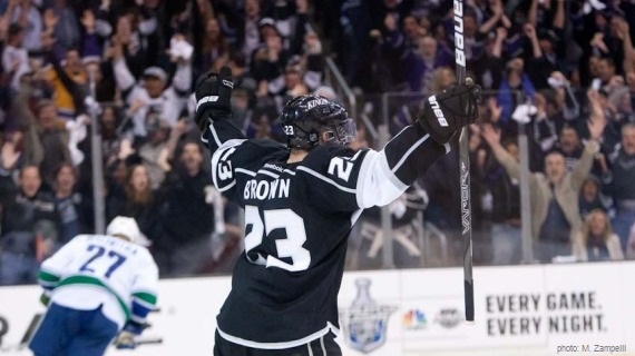 Dustin Brown LA Kings Canucks playoffs MayorsManor