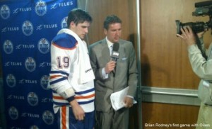 oilers - Brian Rodney 1st game 04-02-2012