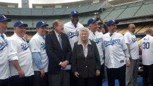 Dodgers press conference MayorsManor Magic Johndon O'Malley
