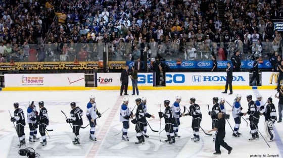 handshake LA Kings St Louis Blues NHL hockey playoffs MayorsManor