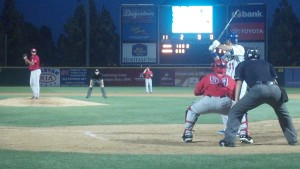 Ethier at bat with Quakes July 2012