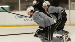 Kopitar with Williams - May 2012