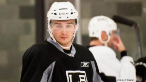 Voynov at Kings practice - by Sheehan