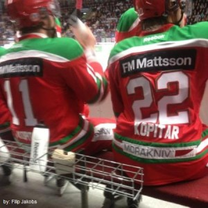 Kopitar brothers - Sept 29, 2012 on bench