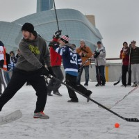 Mike Richards outdoor game Winnipeg MayorsManor