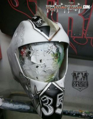 JF Berube goalie mask Kings MayorsManor