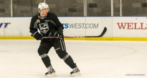Muzzin at LA Kings camp 2013