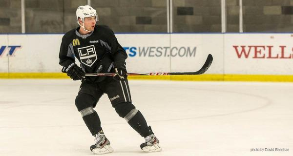 Jake Muzzin at LA Kings camp 2013 MayorsManor
