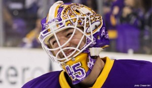 Jonathan Bernier Kings purple gold mask
