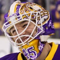 Bernier purple gold mask