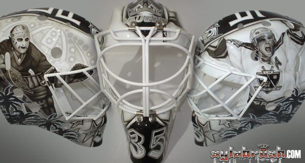 Beube LA Kings legends mask MayorsManor