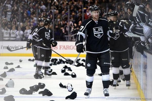 Jeff Carter LA Kings hat trick MayorsManor