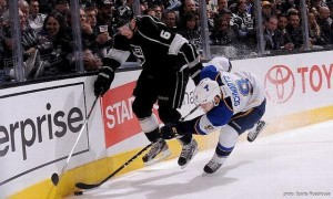 Jake Muzzin vs Blues 03-2013