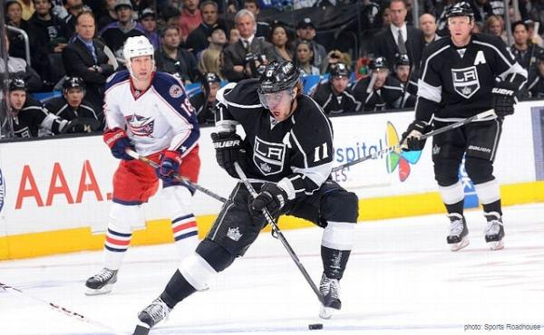 CBJ at LA Kings - Kopitar April 2013