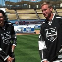 Jeff Carter talks outdoor game at Dodger Stadium