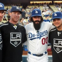 Kings at Dodger game - Sept 2013