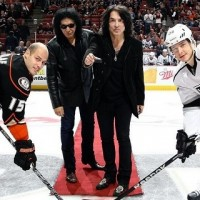 KISS pregame puck drop Kings Ducks