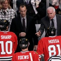 Blackhawks bench
