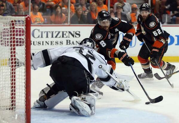 Selanne Ducks Kings 2014 Playoffs