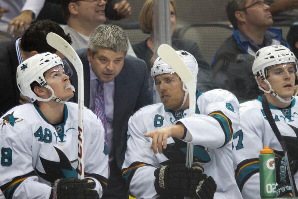 Sharks bench 2014 Playoffs