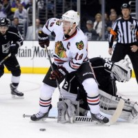 Anze Kopitar on Blackhawks captain Jonathan Toews