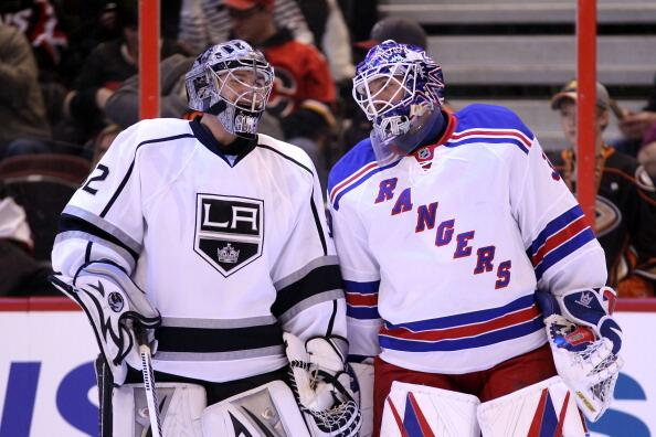 Quick Lundqvist Rangers Kings NHL