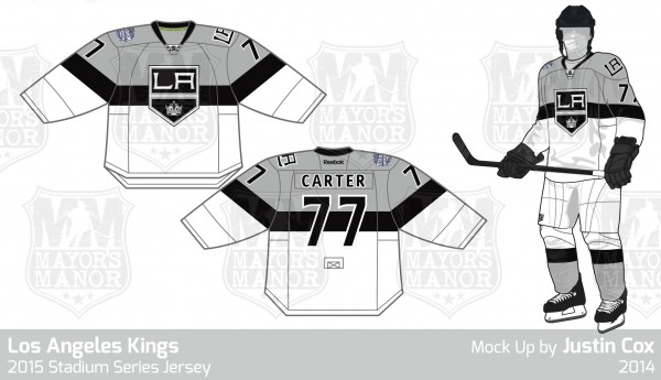 LAKings Stadium Series Jersey 2015 MayorsManor