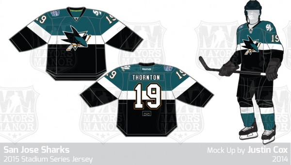 Sharks 2015 NHL outdoor game jersey MM