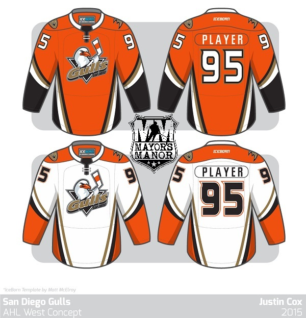 Ducks SD Gulls AHL jersey 2015