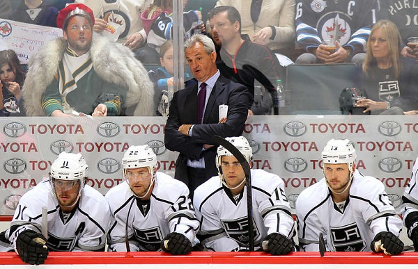 Sutter Kings bench NHL hockey