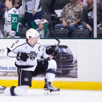LoVerde's OT tally leads Reign to 3-2 win, Stars goalie Lagace stops 48 shots