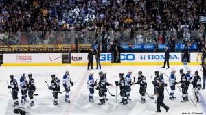 handshake LA Kings St Louis Blues NHL hockey playoffs MayorsManor