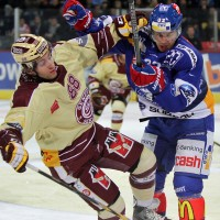 Photos from Brown's second game in Zurich – punch, point, snow