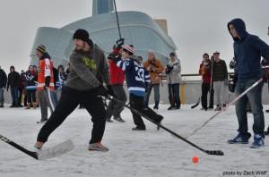 Mike Richards outdoor game Winnipeg MayorsManor
