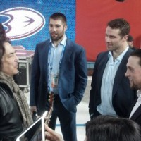 Penner holds court after practice, then meets KISS